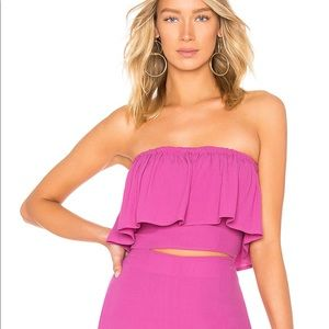 FIONA CROP TOP IN PASSION FRUIT